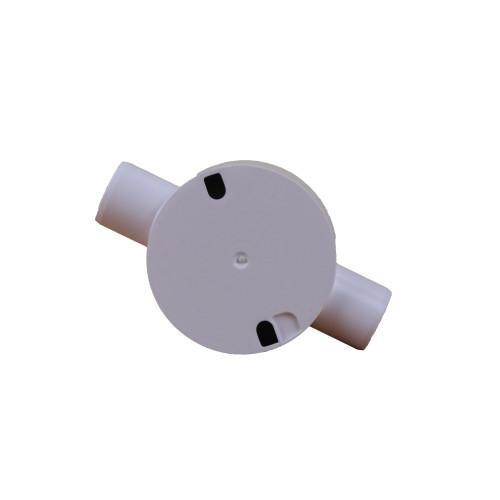 LSF 20mm White PVC Rigid Conduit Through Box (Each)