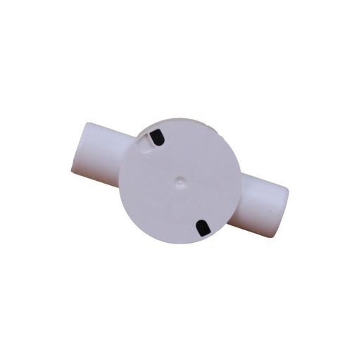 Univolt CB25/2WS | LSF 25mm White PVC Rigid Conduit Through Box