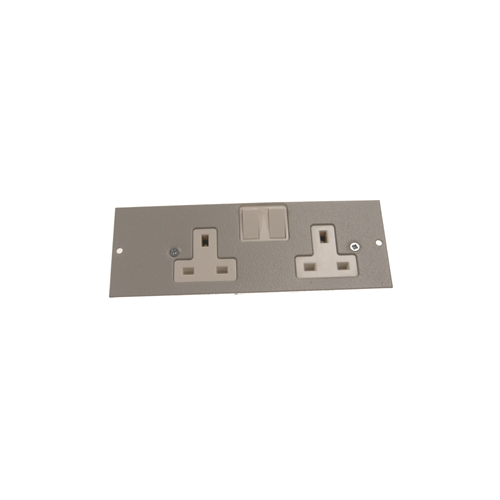 TASS ST0291 | Single & Three Compartment Twin 13A Switch Socket Light Grey