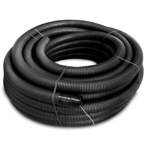 75mm Black Twin Walled Underground Corrugated Flexible Conduit 61mm I/D (50m Reel)