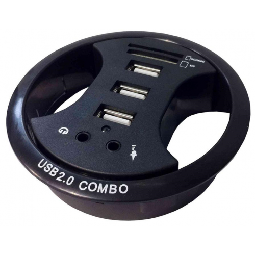 CMW Ltd CMW Ltd, Desk Cable Management | 3 USB Desk Grommet ( 80mm hole )