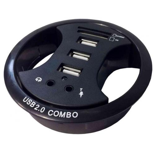 CMW Ltd CMW Ltd, Desk Cable Management | 3 USB Desk Grommet ( 80mm hole )