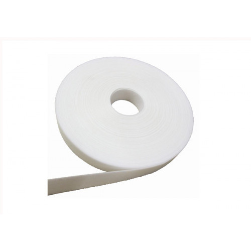 White 13mm Wide Continuous Hook & Loop Tape (23m Reel)