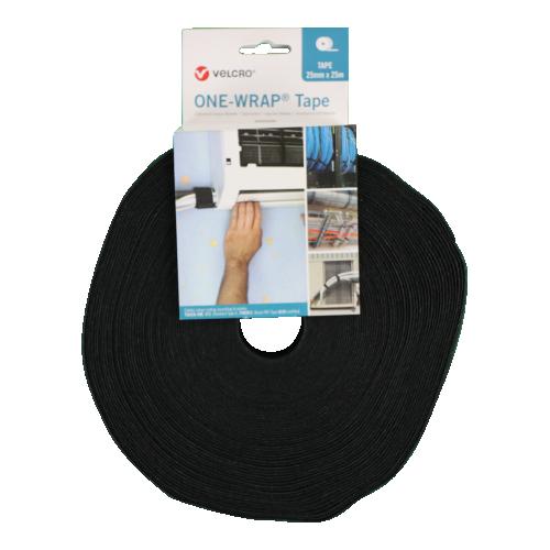 Velcro VEL-OW64153 | Black 25mm Wide VELCRO® Brand ONE-WRAP® Tape (25m roll)