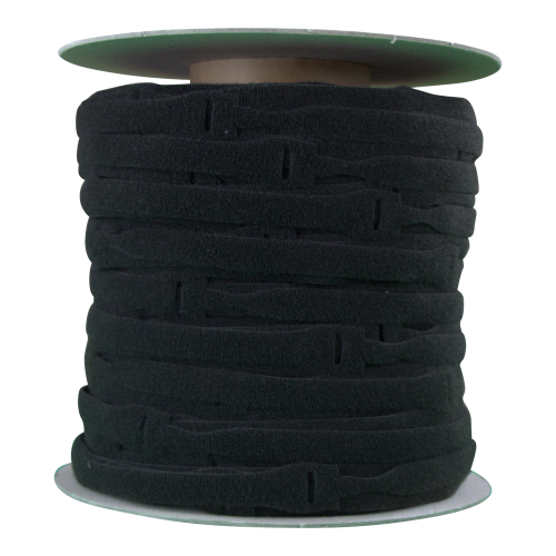 Velcro VEL-OW64566 | Black 200mm x 20mm VELCRO® Brand ONE-WRAP® Cable Ties (Spool/750)