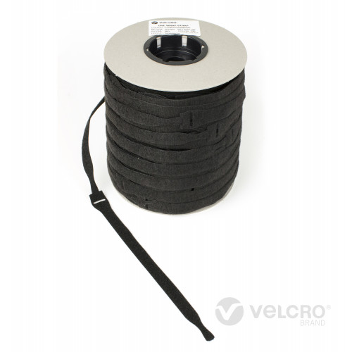 Velcro VEL-OW64666 | Black 230mm x 20mm VELCRO® Brand ONE-WRAP® Cable Ties (Spool/750)