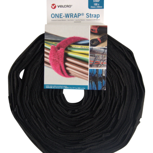 Velcro VEL-OW64827   One-Wrap  Strap 25x300mm black (330) Roll with 100 Units