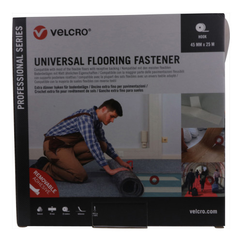 Velcro VEL-PS20021   VELCRO® Brand Pro Trade Universal Flooring Fastener 45mm x 25m Natural