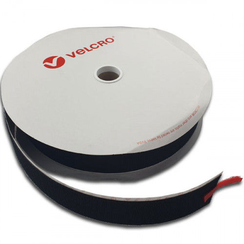 Black 50mm Male VELCRO® Brand Loop Tape (25m roll)