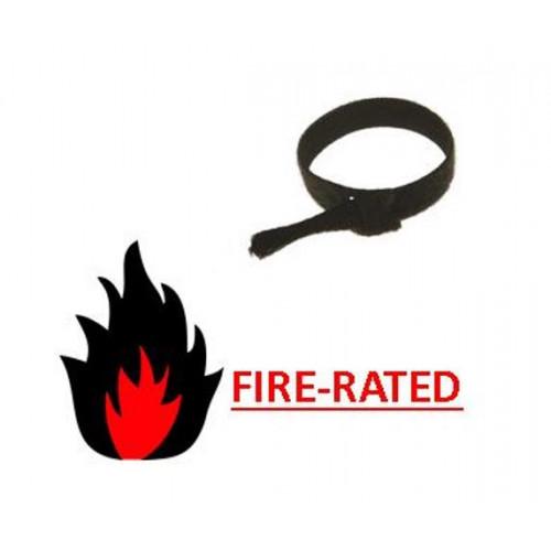 Velcro 0   FR Black 200mm Long x 20mm Head x 13mm  Body Cable Ties  (Bag / 100)