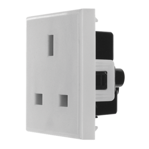 White 13amp 240v Power Socket (Each)