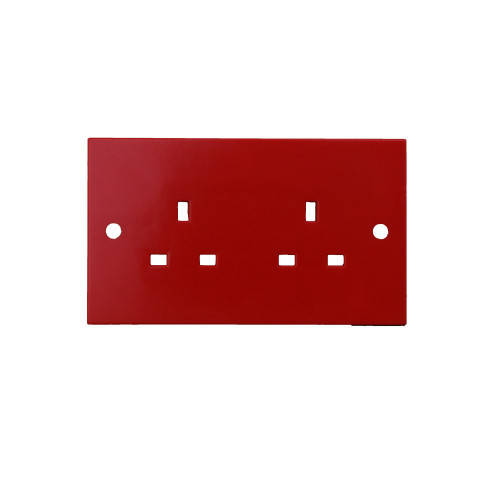 WA179  | Red 2 Gang 13a Socket Outlet