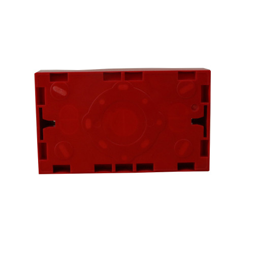 WA185  | Red 25mm Deep Double Gang Box