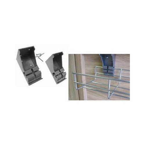 CMW Ltd  | Plastic Wire Basket Tray L Brackets (Per / pair)