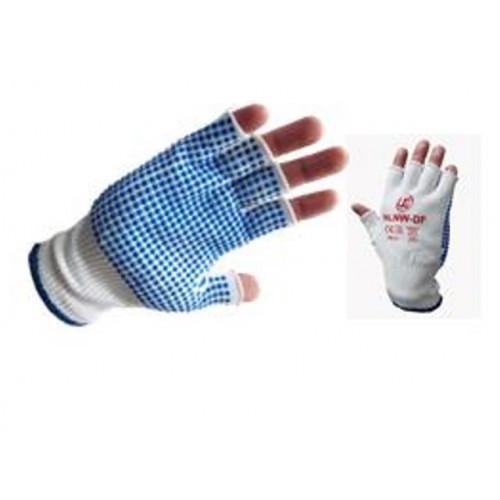 CMW Ltd    Fingerless Nylon Dotted Gloves (Per/pair)