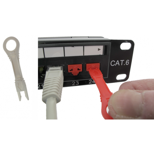 TUK Ltd XPBKW3{   White RJ45 Port Insert Tools (Pack of 3)