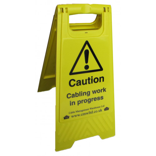 CMW Ltd  | Cabling Work in Progress Freestanding 'A' Board
