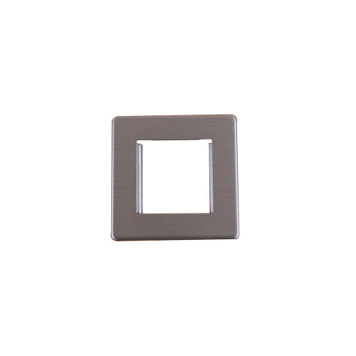 Kauden  Double Brushed Steel Screwless Plate accepts 2 EURO Modules 50x25mm