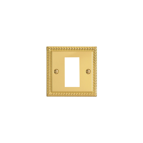 Single Georgian Brass Faceplate (Each)