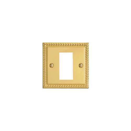 CMW Ltd  | Single Georgian Brass Faceplate