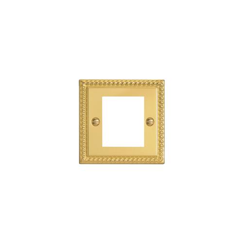 CMW Ltd  | Double Georgian Brass Faceplateaccepts 2 EURO Modules 50x25mm
