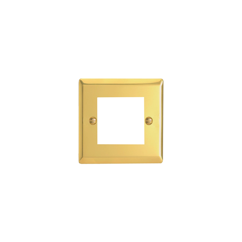 Double Victorian Brass Faceplate accepts 2 EURO Modules 50x25mm (Each)