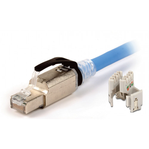 Siemon ZP1-6AS-01S   Siemon Z-PLUG Cat6A Shielded Field-Terminated Plug with Black Latch Protector