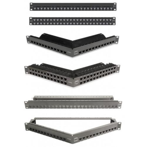Siemon ZS-PNL-U48E | Siemon Z-MAX 48 Port Unloaded Shielded Patch Panel 1U