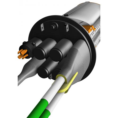 Heatshrink sealing Kit, Only for CPE FDC-Bx, Round port. 6mm=Ø=21mm