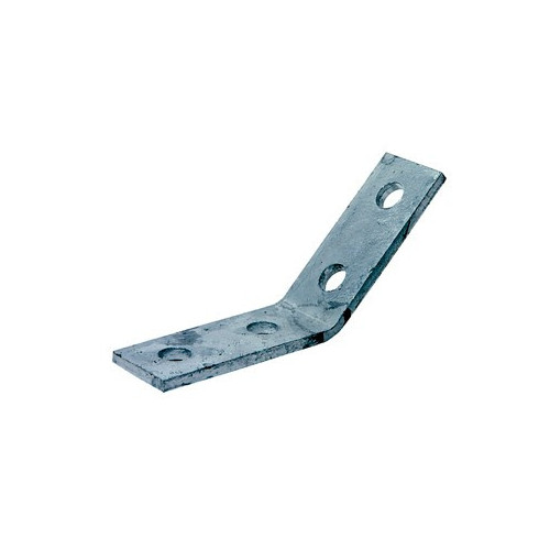 Unistrut/Network Pipe P1074 | ( MP20 ) Mild Steel Zinc Plated 45 Degree  4 Hole Angled Fitting