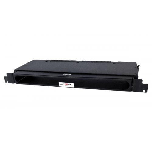 CMW Ltd  | HotLok® SF001-PR1  SwitchFix, Passive, Rear Intake, 1U, Adjustable 14.6cm-21.5cm, Black