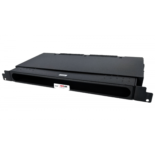 CMW Ltd  | HotLok® SF001-PR2  SwitchFix, Passive, Rear Intake, 1U, Adjustable 19.38cm-29.54mm, Black