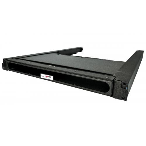 CMW Ltd  | HotLok® SF001-PR3  SwitchFix,Passive,Rear Intake,1U,Adjustable 25.4mm-37.16mm,Black