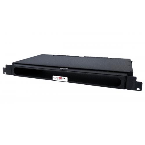 CMW Ltd  | HotLok® SF001-PR4  SwitchFix, Passive, Rear Intake, 1U, Adjustable 27mm-37.16mm, Black