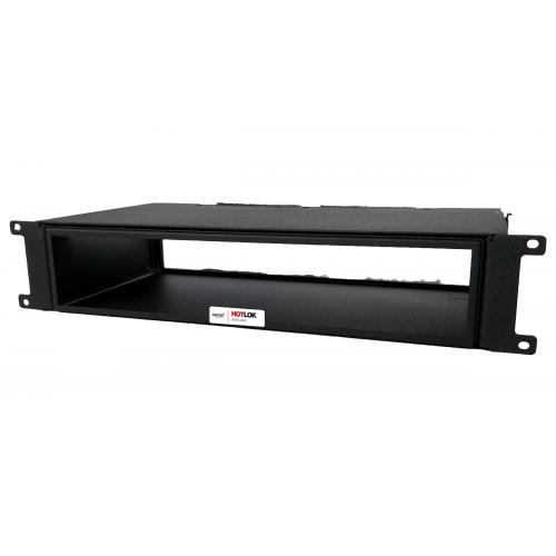 CMW Ltd  | HotLok® SF002-PR4 SwitchFix 2U, Passive, Switch Rear Intake, Adjustable, Black, 270mm - 372mm