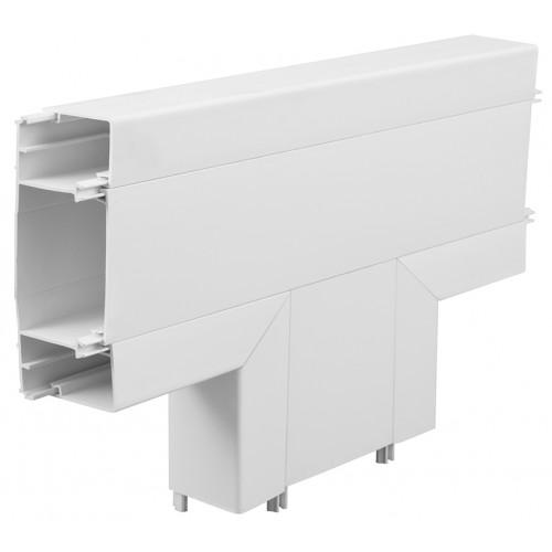 Marshall Tufflex / Bendex XT3FTWH   3 Compartment Square Dado Trunking Flat Tee