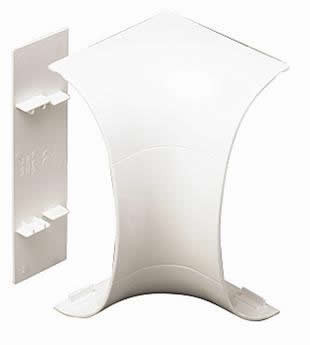 Marshall Tufflex PVC White Odyssey Dado Trunking Internal Bend (Each)