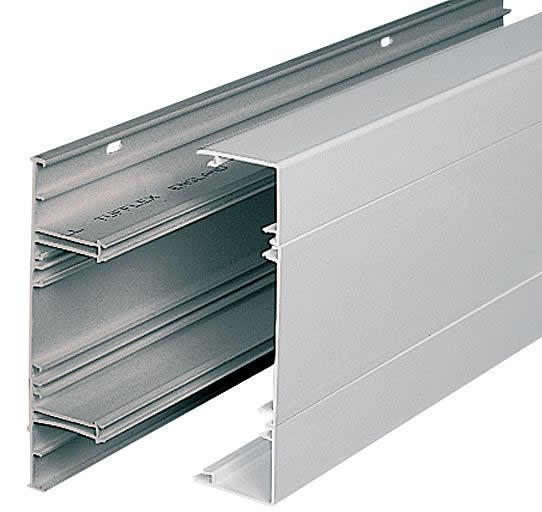 Marshall Tufflex Sterling Profile 3 3 Compartment Dado Trunking (3m lgth)